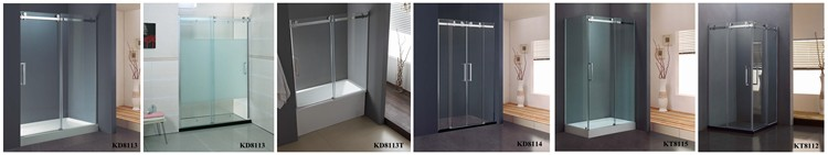 Frameless Two Glass Sliding Shower Screen(KD8114)