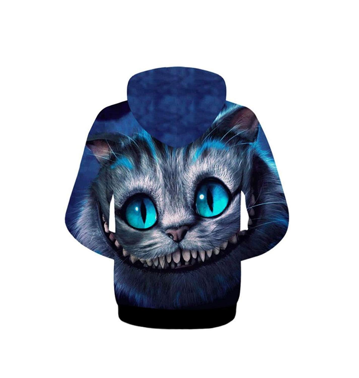 Hiwil Women's Stylish Colorful 3D Digital Full Printed Pullover Roll Sweatshirt