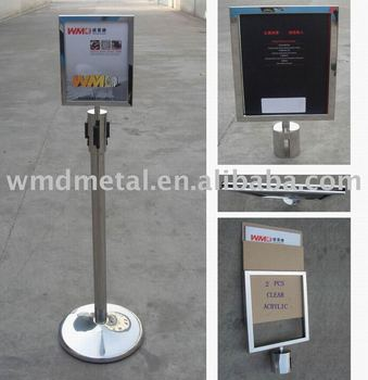 a4 p signage frame message board poster holderretractable belt stand