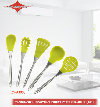 ZY-A1058 Heat Resistant Silicone 5 Piece Non-Stick silicone kitchenware Set Food Grade Silicone