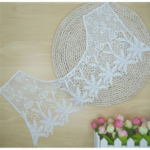 white mesh crochet embroidery lace collar hollow round necklace collar
