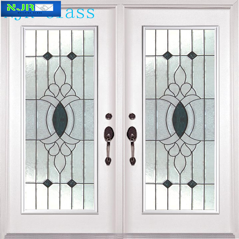 5 15 mm templado textura de vidrio puerta del ba o for Cristales antiguos para puertas
