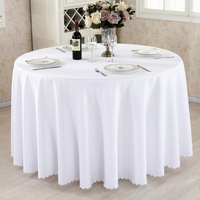 Custom Table Cover Party Wedding Table Cloth for Hotel Home White Table Decoration
