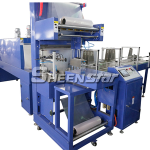 Automatic Film shrink sleeve shrink wrapping packaging machine with Shrink Tunnel
