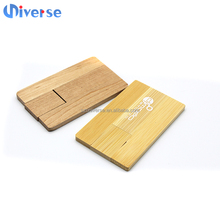 Best Premium Gift Business Wooden Credit Card Usb 2.0 Interface Flash Drive With Custom Logo Printing And Optional Capacity