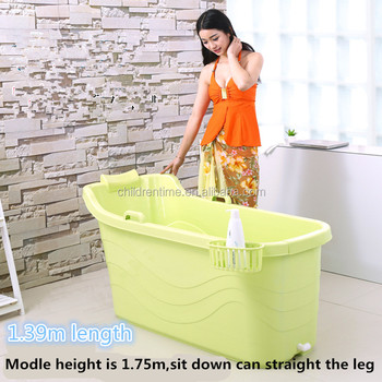 Large Portable PP Plastic Bathtub For Kids And Adults