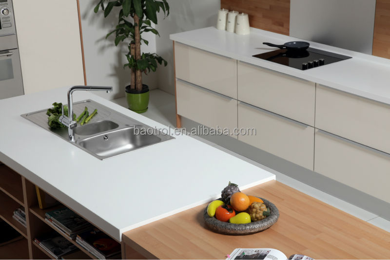 2018 New Coming Restaurant Solid Surface Kitchen Cabinet Top Table