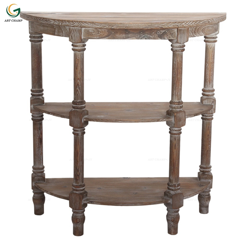Fabulous Antique Solid Wood Collection 3Layers Half Round Console Table Buy Console Table Wood Chinese Console Table Modern Chinese Console Table Product On Gmtry Best Dining Table And Chair Ideas Images Gmtryco