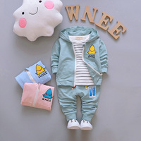 Turkey Wholesale Famous Brand Children Clothes Kids Boys Autumn 3 Pcs Clothes Set