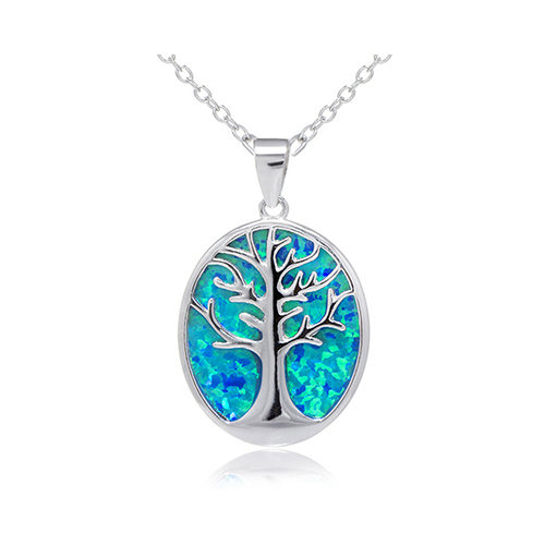 New 925 Sterling Silver Plated Tree of Life Charm Pendant Necklace Jewelry Gift