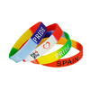 Sports logo recycled kids hand glow wholesale gym qr code cheap deboss mens rubber wrist custom band wristband silicon bracelet