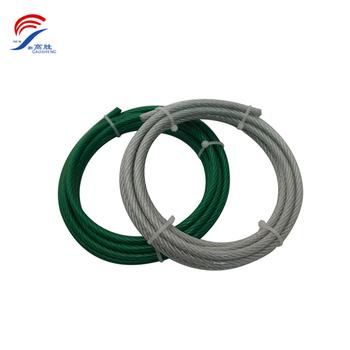 7x19 6mm Black Nylon Coated Galvanized Steel Wire Ropes - Buy Black ...