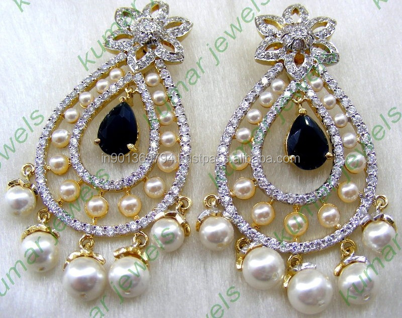 Designer Hanging Pearl Earrings Latest Design Of Earring Fashion Product On Alibaba