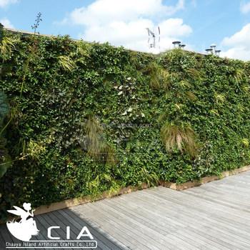Outdoor Vertical Garden Green Wall , Home Garden Artificial Grass