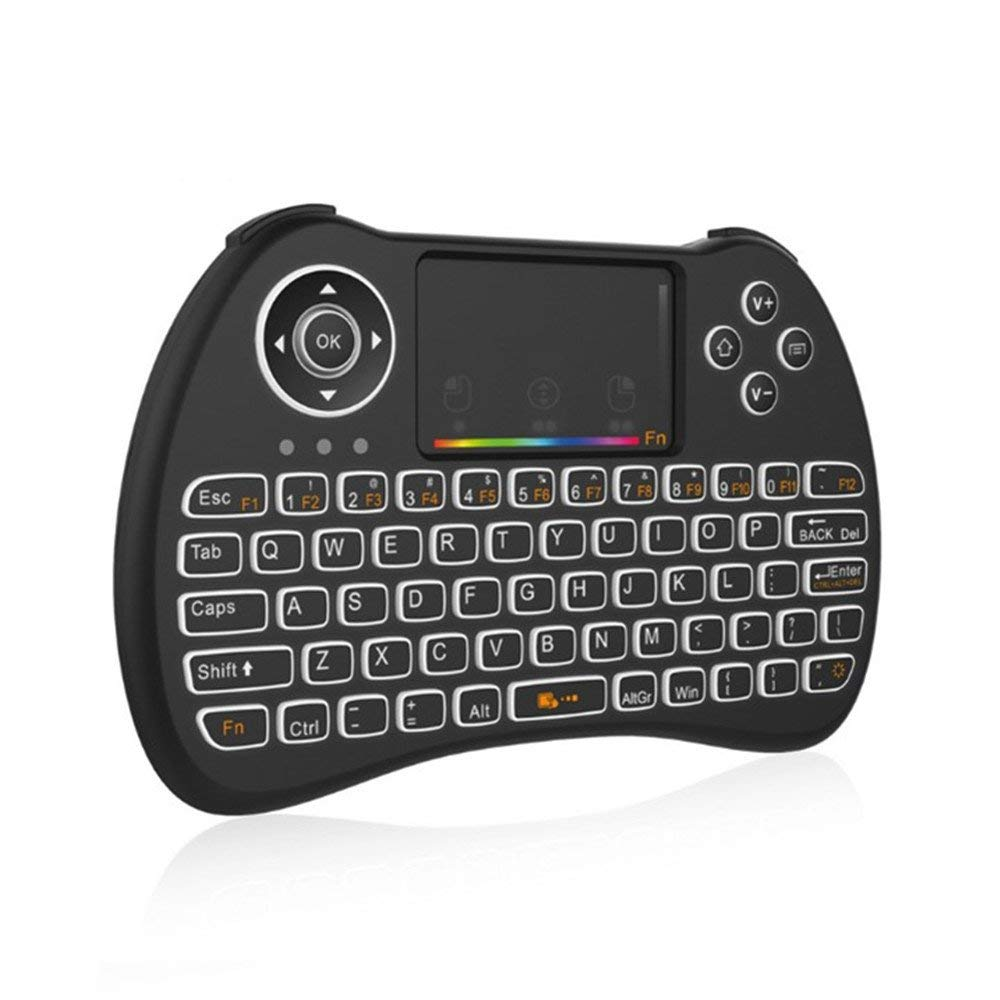 e17afa5eb49 Get Quotations · Yxaomite Mini Wireless Keyboard LED Colorful Backlit  Gaming Keyboard Handheld Remote Keyboard with Mouse Touchpad Combo