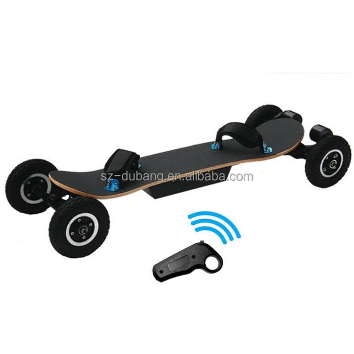 2018 new arrival four wheels electronic skateboard longboard high speed 45km/h electric mountain board 2*1600w belt motors