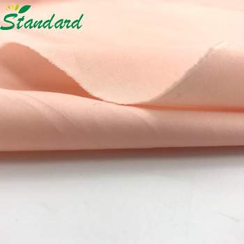2018 fashion 100% combed organic cotton woven sateen solid dyed fabric for casual shirt