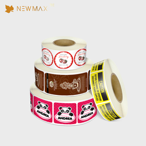 Cheap price Die cut logo thermal label sticker roll Custom Printed Sticker Label