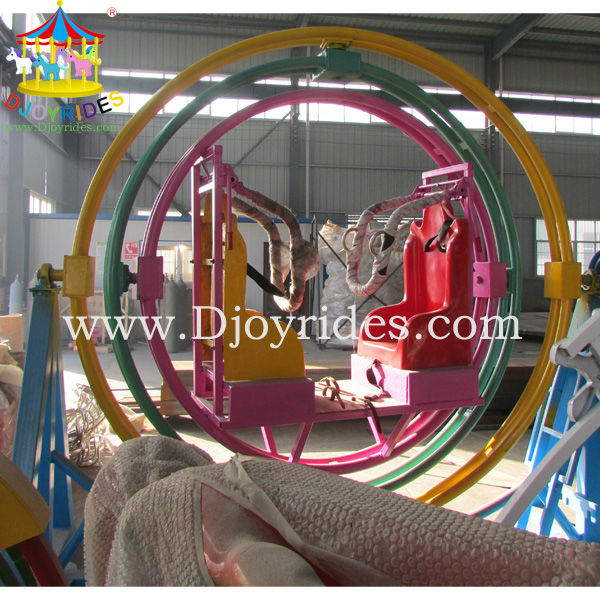 exciting thrilling amusement park mechanical gyroscope ride
