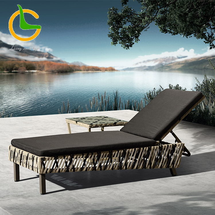 2018 hotel modern rope aluminum frame outdoor lounge furniture