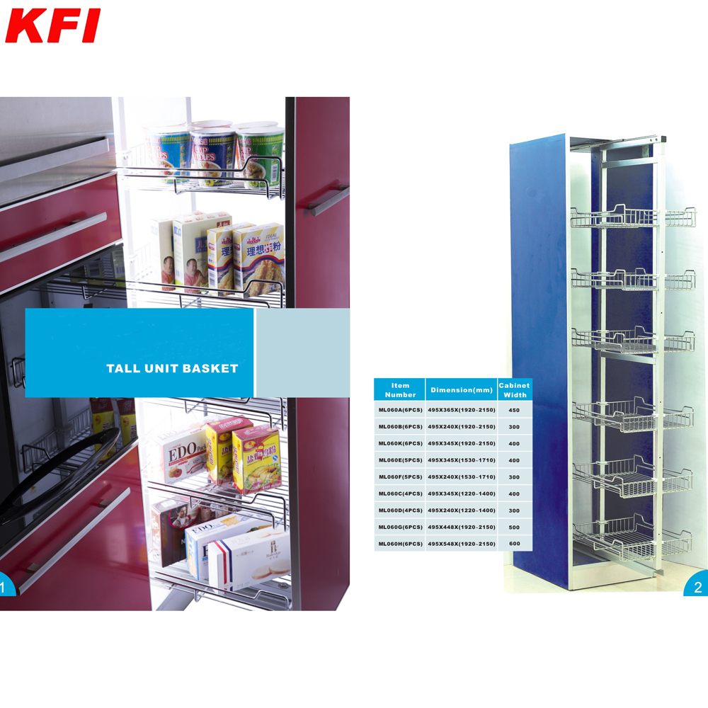 Metal Kitchen Cabinet Tall Unit Pull Out Basket/kitchen Pantry ...