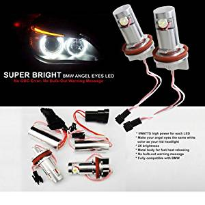 07-11 BMW X5 E70 Xenon Super Bright Angel Eye LED OE Replacement Bulbs
