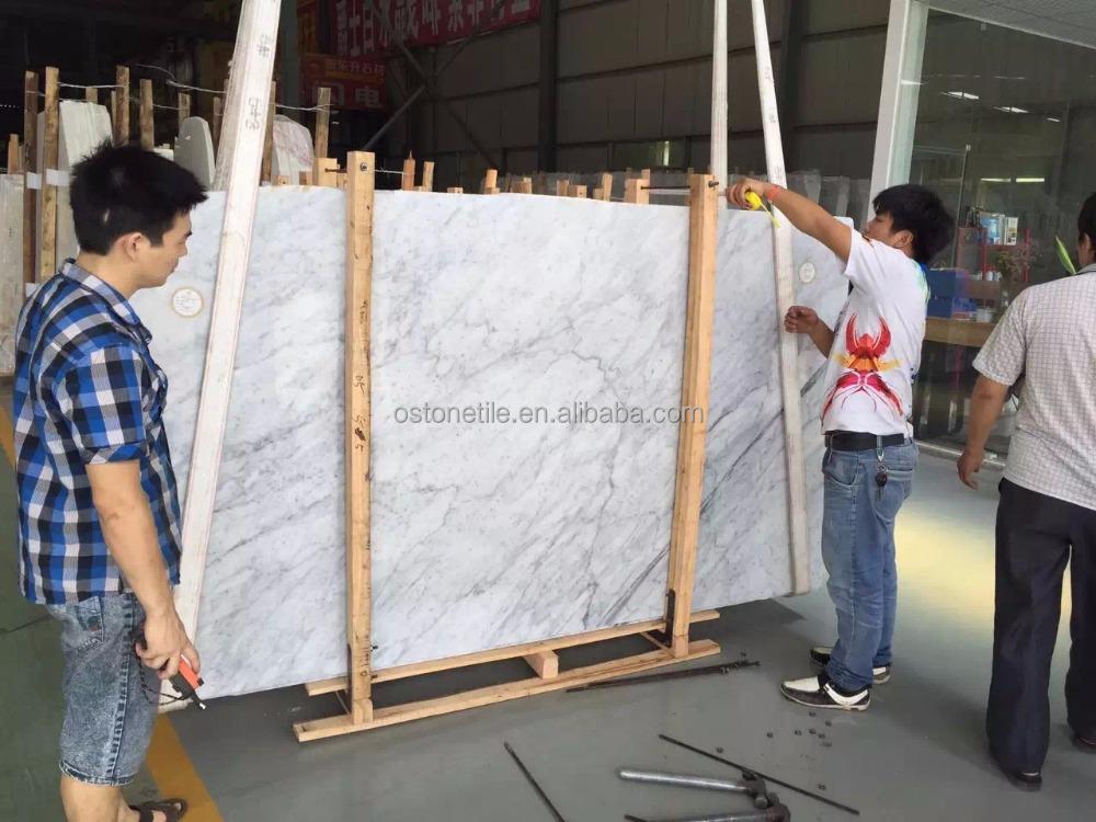 Best price home design natural stone white carrara marble tile
