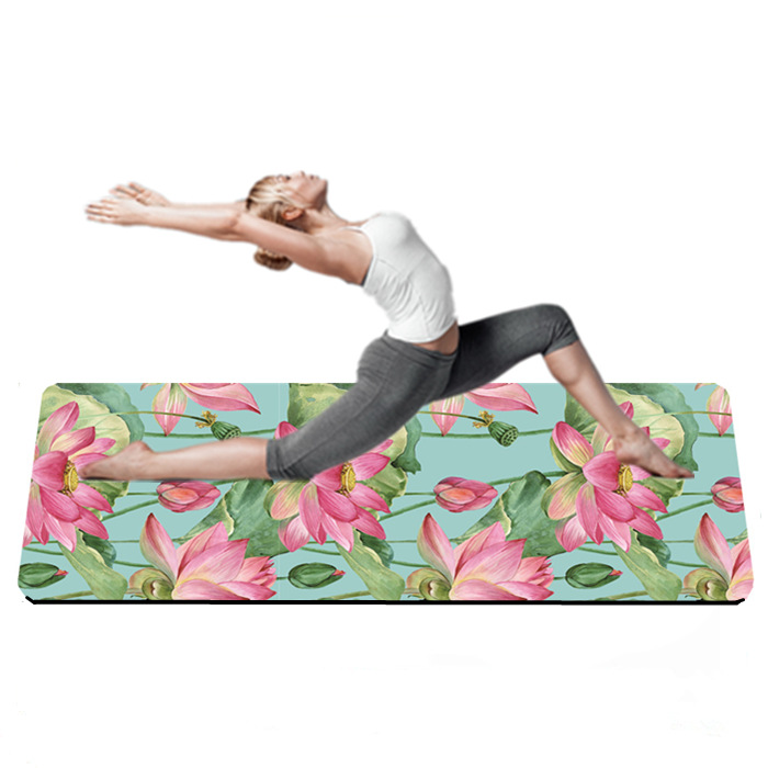 Lotus Waterlily Premium Yoga Mat For Body Building, Any color;customized printing