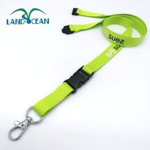 Hot Sale Green Silk Printing Lanyard with Custom Logo