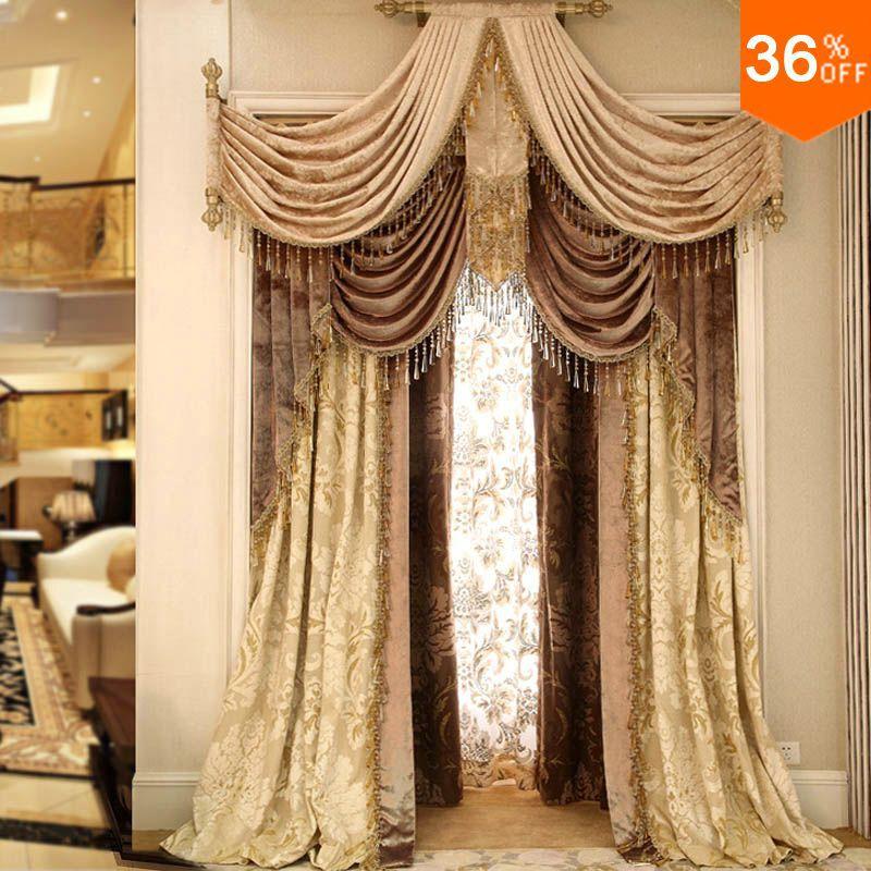 2016 or poin on tige anneau b ton p le classique rideaux rideaux pour fen tres extreme luxe. Black Bedroom Furniture Sets. Home Design Ideas