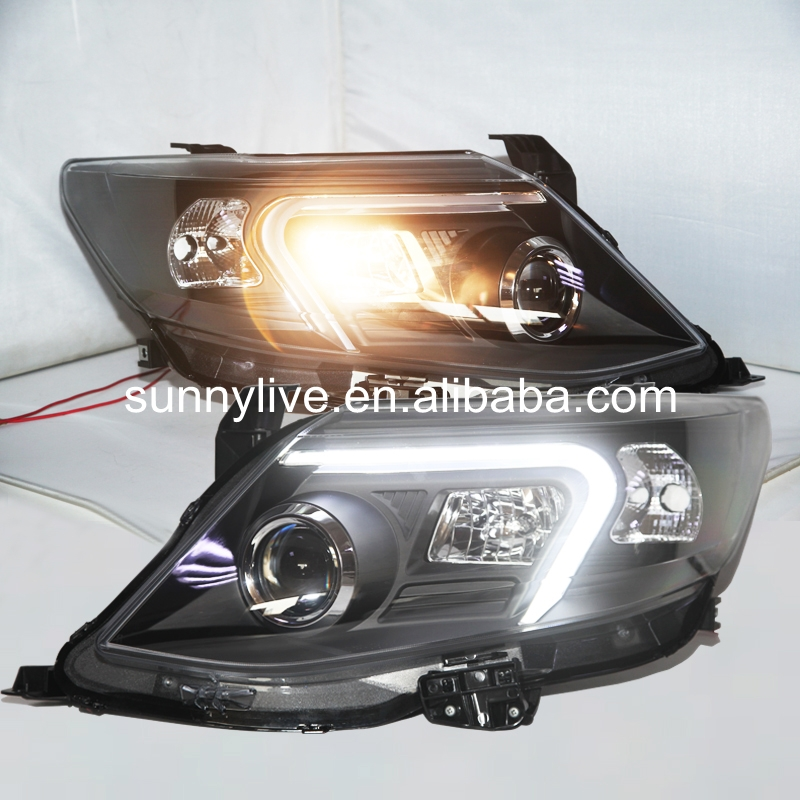 2011-2015 year TOYOTA for Fortuner Headlights Head Lamp Black Housing with BI Xenon Projector