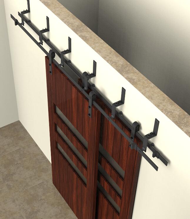 Bypass sliding barn wood door hardware interior sliding - Interior barn door track hardware ...