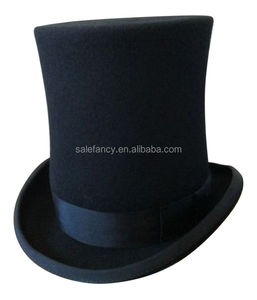 02b8b023b7c ictorian Style Black Wool slash open top hat for sale QHAT-8526
