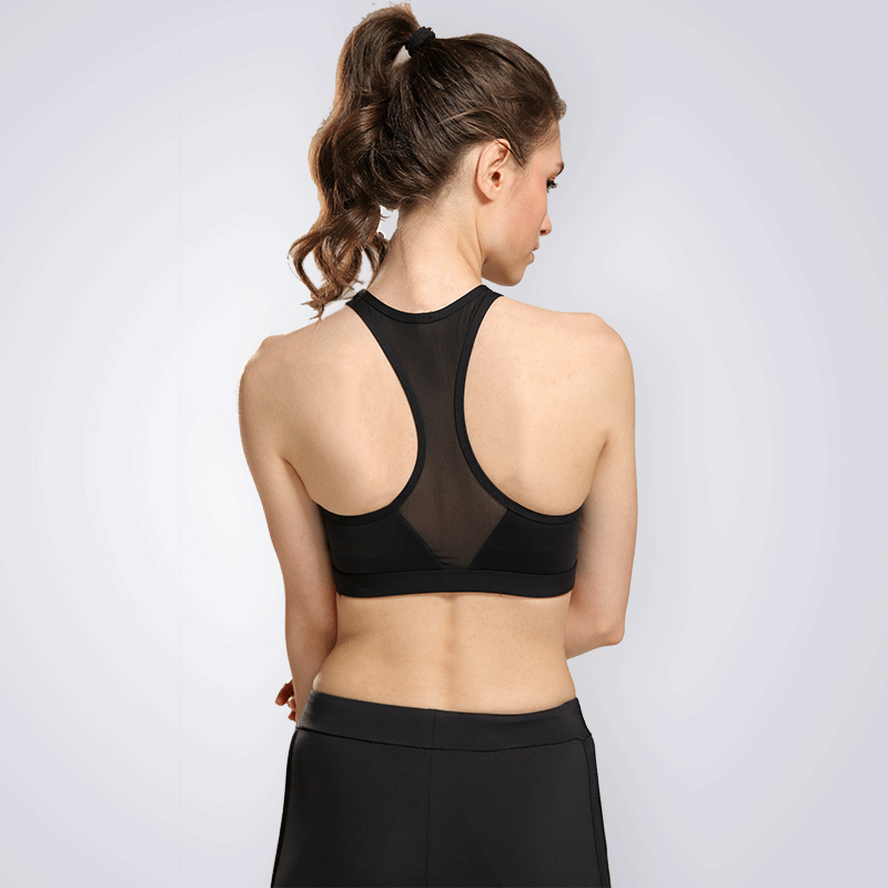 Women's Energy Push Up Strappy Cross Back Running Yoga Performance Top