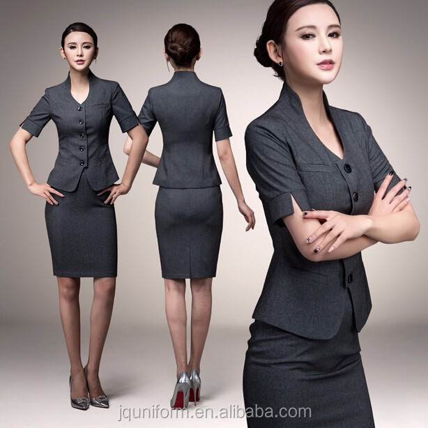 office uniform custom simple new fashion outfit ladies office uniform