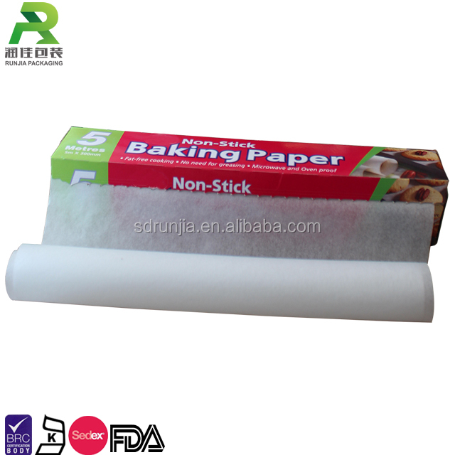 Anti Adhesive Siliconized Bread Baking Paper Roll for cooking