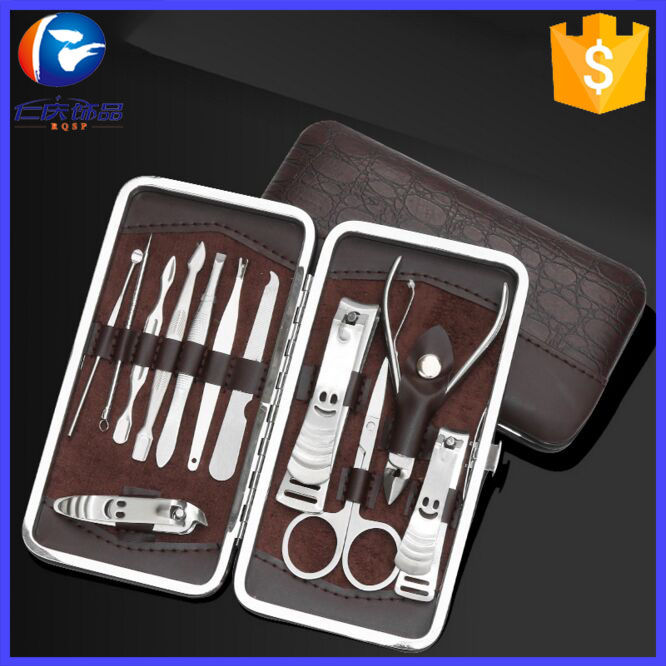 Professional 12pcs Nail Art Kits Stainless Steel Manicure Pedicure Set Nail Clippers Pedicure Groomingtools