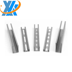 Unistrut channel size/Strut slotted c channel steel price manufacturer