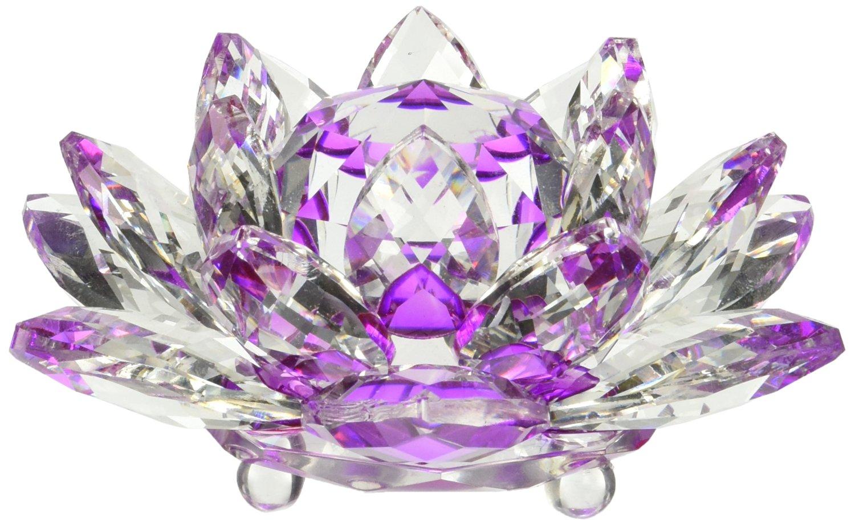 Buy 5 Amlong Crystal Purple Hue Reflection Crystal Lotus Flower