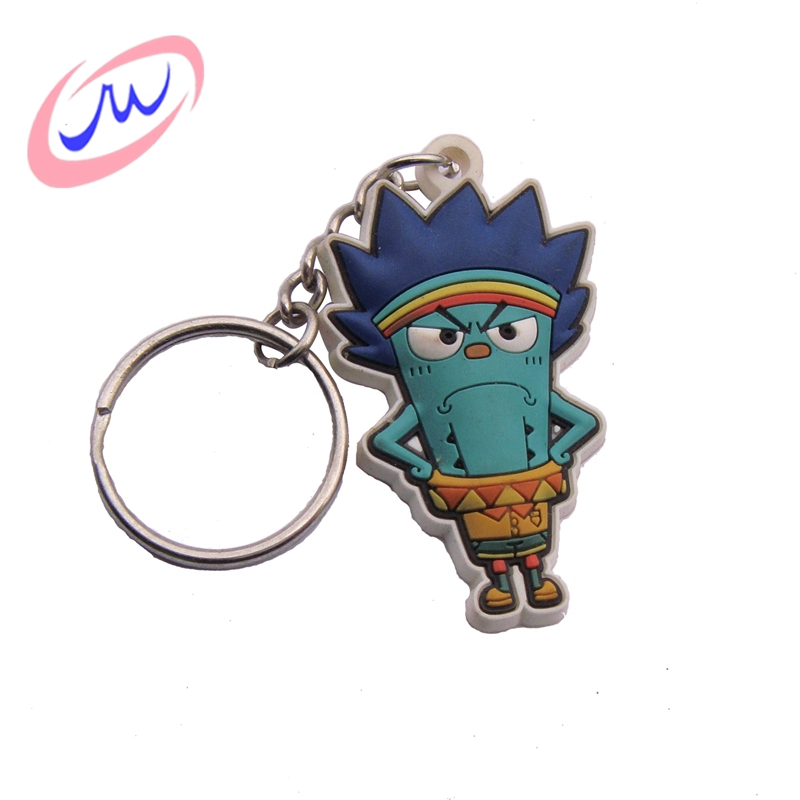 Volume manufacture reasonable price customized 3d pvc key chain