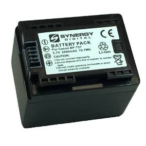 Canon VIXIA HF R500 Camcorder Battery Ultra High Capacity (Li-Ion 3.6V 2900mAh) - Replacement for the Canon BP-727 Camera Battery - Fully Decoded