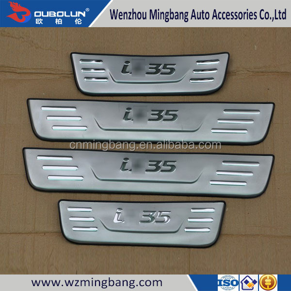 auto accessories hight quality car door sills scuff plate For 2010-2011IX35 Hyundai