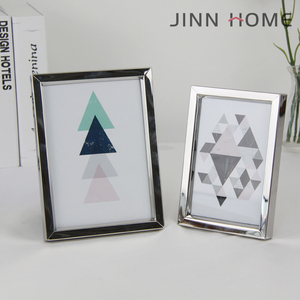 Jinnhome simple design decorative picture new design silver color aluminum photo frame