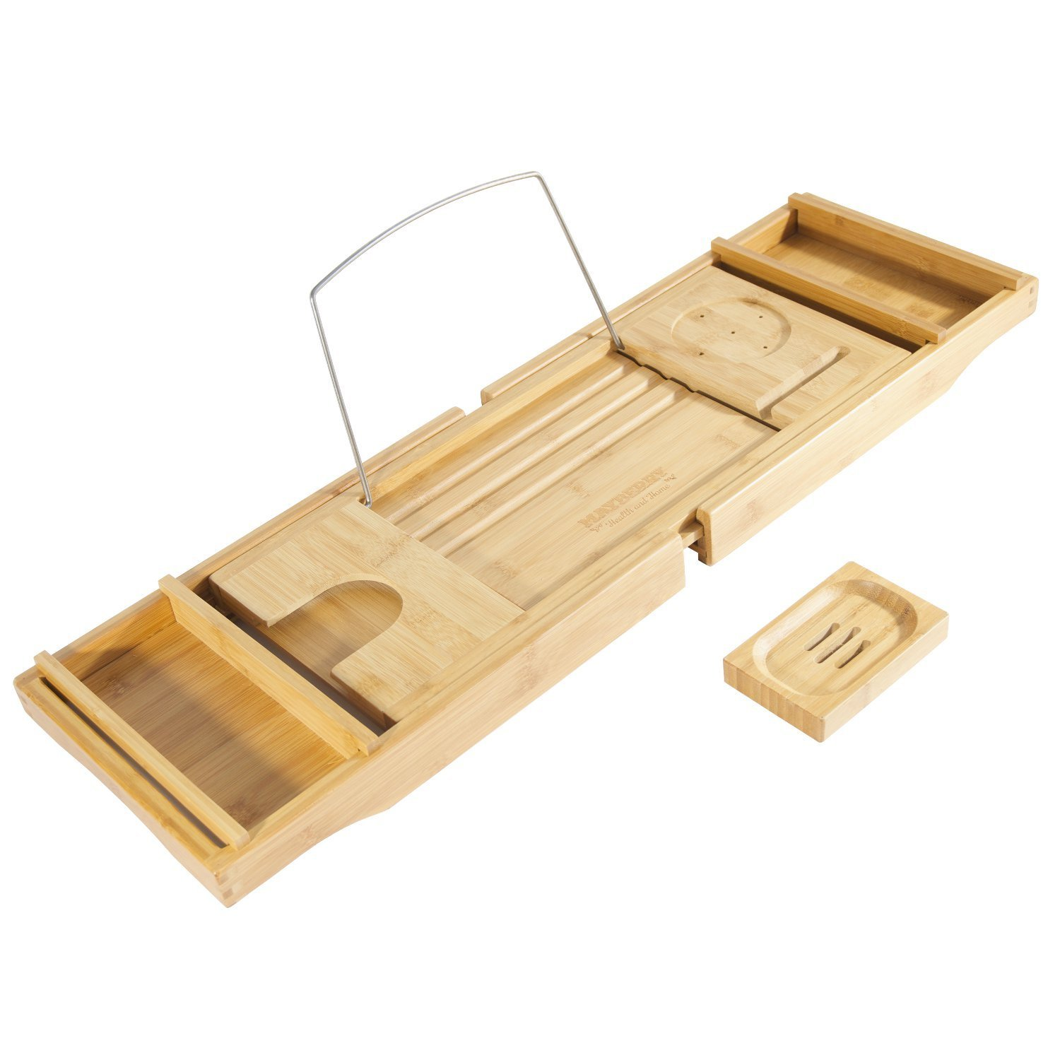 wholesale bamboo bathtub caddy tray for stylish design and high quality