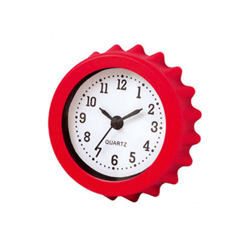 Unique style bottle cap shaped plastic wall clock for gift