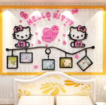 Hello KT Acrylic Sofa 3D Art Home Decoration Wall Stickers