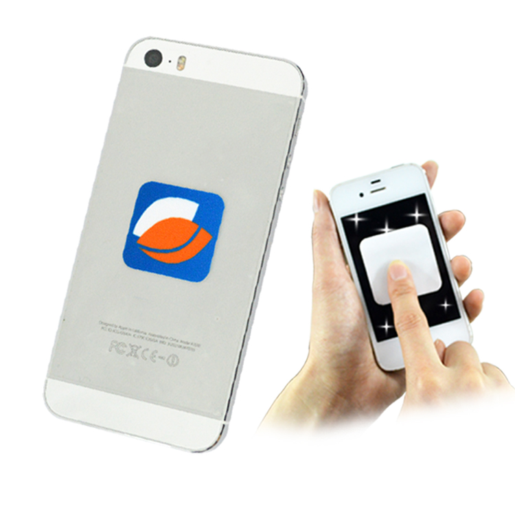 cell phone self adhesive microfiber screen cleaner