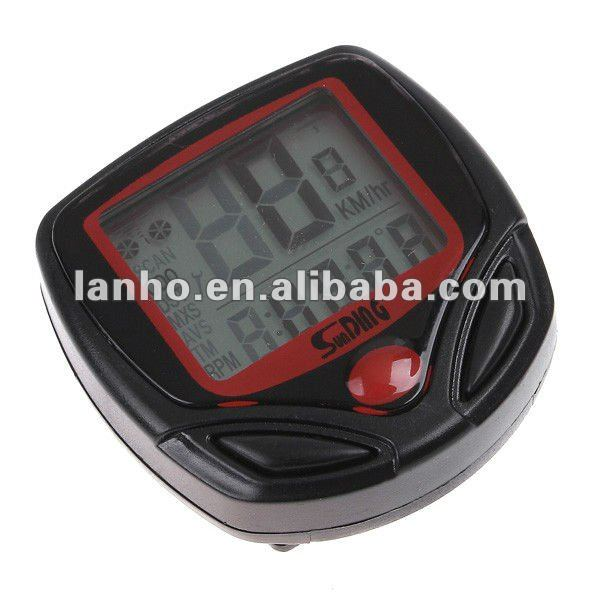 Multifunctional Waterproof LCD Display Cycling Bike Bicycle Computer Odometer Speedometer 16 Functions