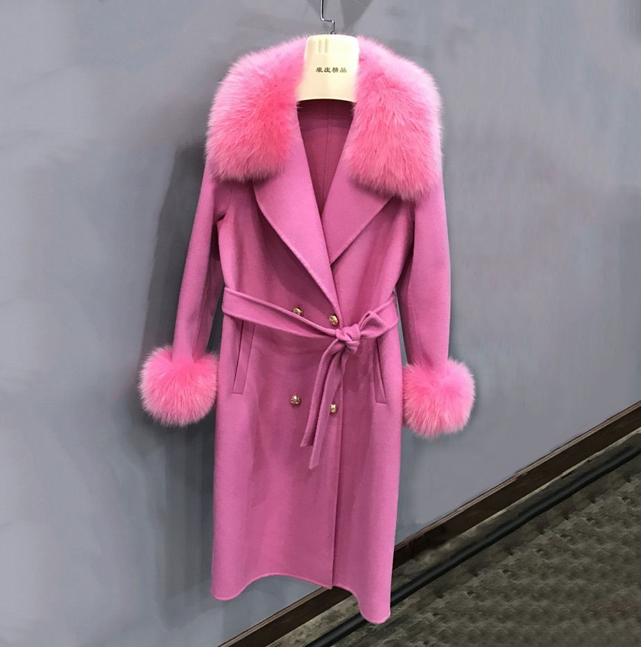 Celebrity <strong>Fashion</strong> <strong>Winter</strong> Women <strong>Fashion</strong> Wool <strong>Coat</strong> Trends Slim Fit Long Cashmere Fur <strong>Coat</strong>