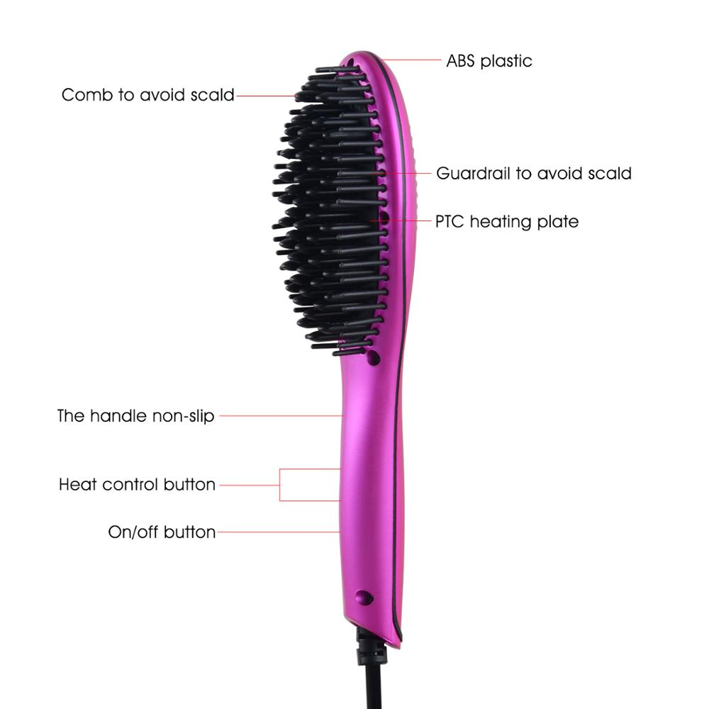 Huipu new mini electric fast hair straightener straightening brush for travel